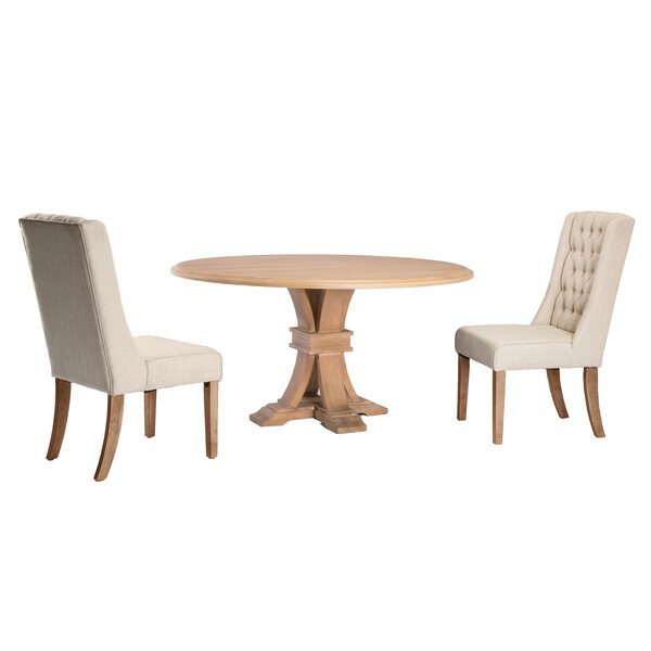 Vienna 3 Piece Dining Set by One Allium Way