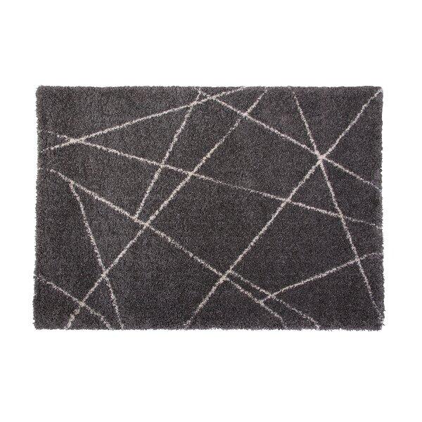 Tefft Charcoal/Ivory Area Rug by Brayden Studio
