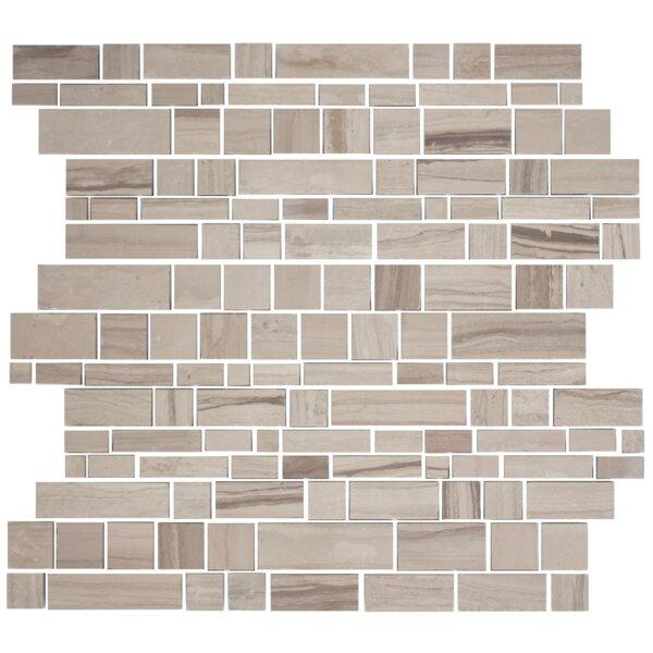 Random Sized Slate Mosaic Tile in Wooden White by Susan Jablon
