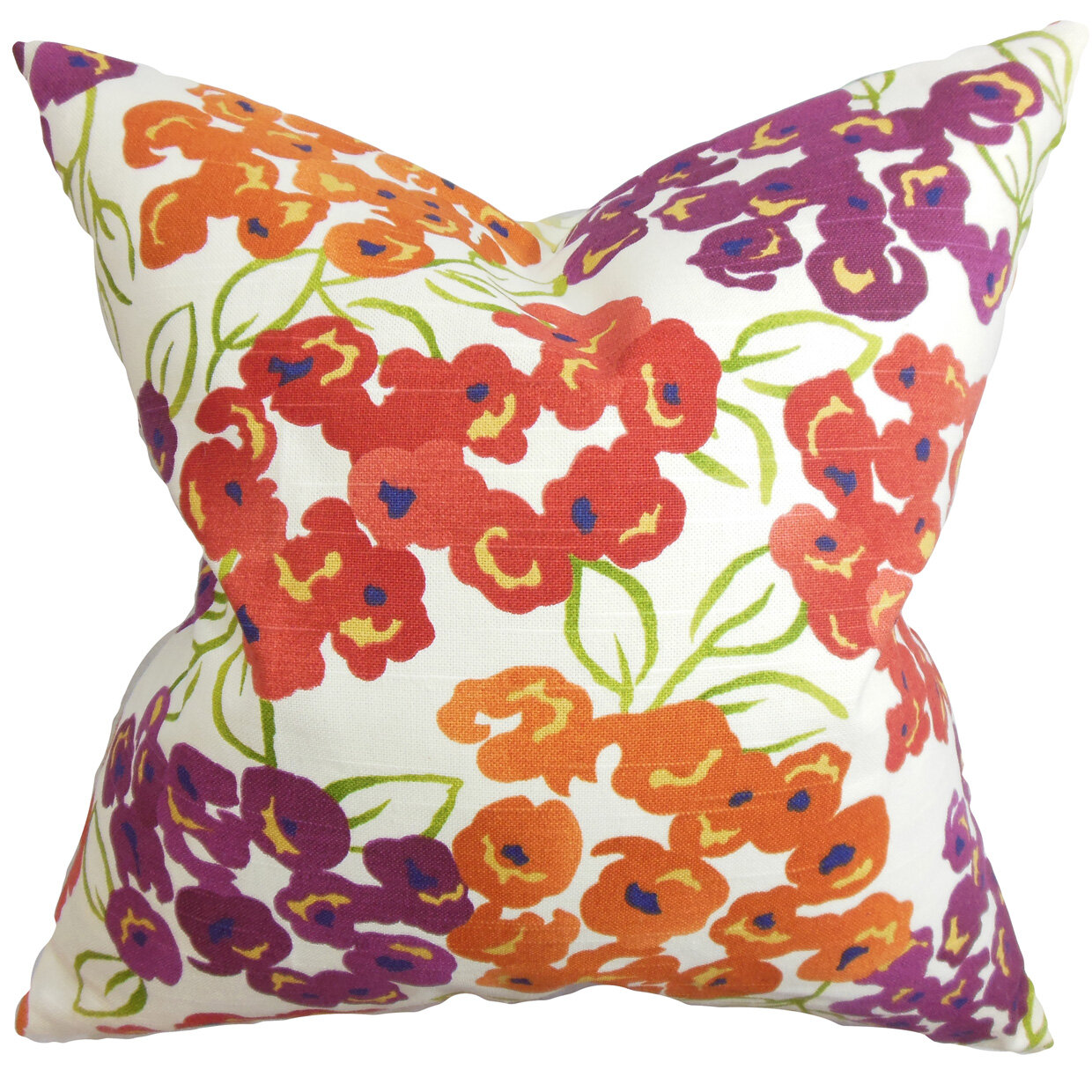 The Pillow Collection Heloise Floral Throw Pillow Cover