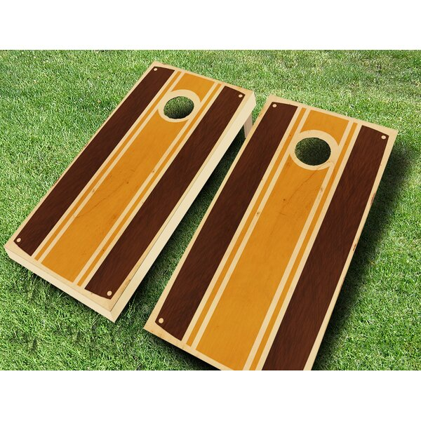 Retro Stained Virginian Cornhole Set by AJJ Cornhole