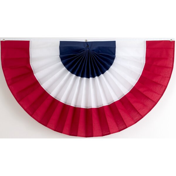 3 Stripe Pleated Flag by Independence Bunting and Flag Corp