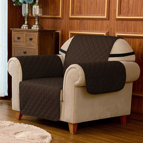 Quilted Reversible Box Cushion Armchair Slipcover by Winston Porter