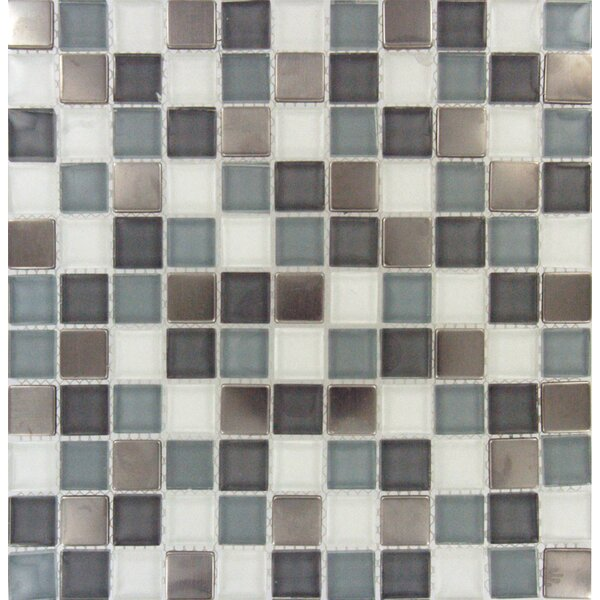 Diamond Cove Mounted 1 x 1 Glass and Metal Mosaic Tile in Multi by MSI