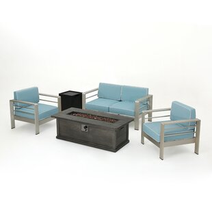 Dukes 5 Piece Sofa Set with Cushions By Orren Ellis