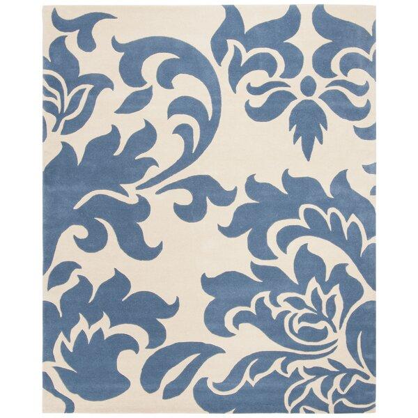 Martha Stewart Barcelona Tufted / Hand Loomed Blue/Beige Area Rug by Martha Stewart Rugs