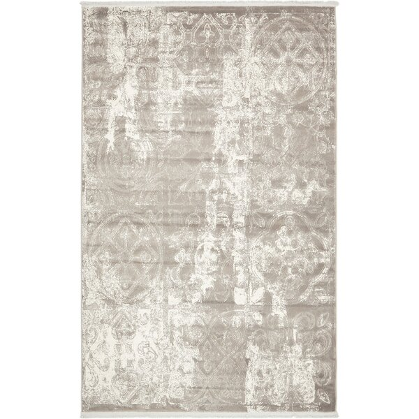 Tatyana Gray Geometric Area Rug by Mistana