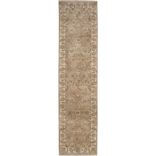 Harrell Hand-Knotted Brown Area Rug by Astoria Grand