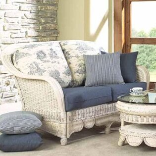 Moroccan Loveseat by Boca Rattan