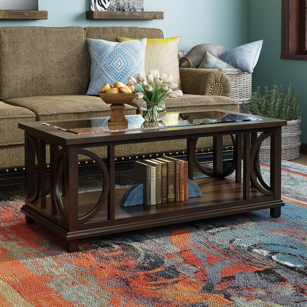 World Menagerie Glass Top Coffee Tables