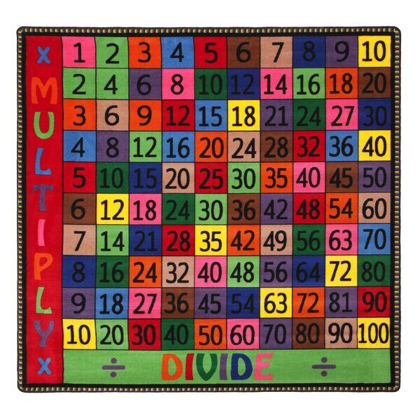 Multiply And Divide Red/Yellow Area Rug by Flagship Carpets