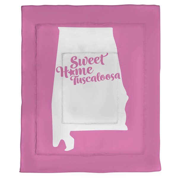 Tuscaloosa Alabama Single Reversible Comforter