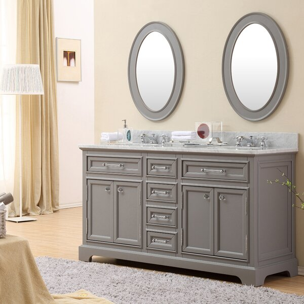 Bergin 60 Double Bathroom Vanity Set by Three Posts