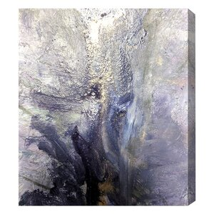 'Dreaming Abstract Silver' Painting Print on Canvas by Mercer41