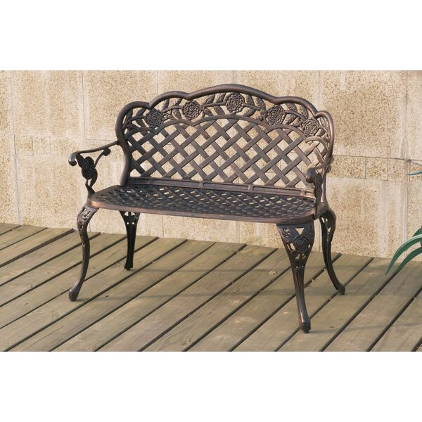 Millette Oudoor Metal Garden Bench by Darby Home Co