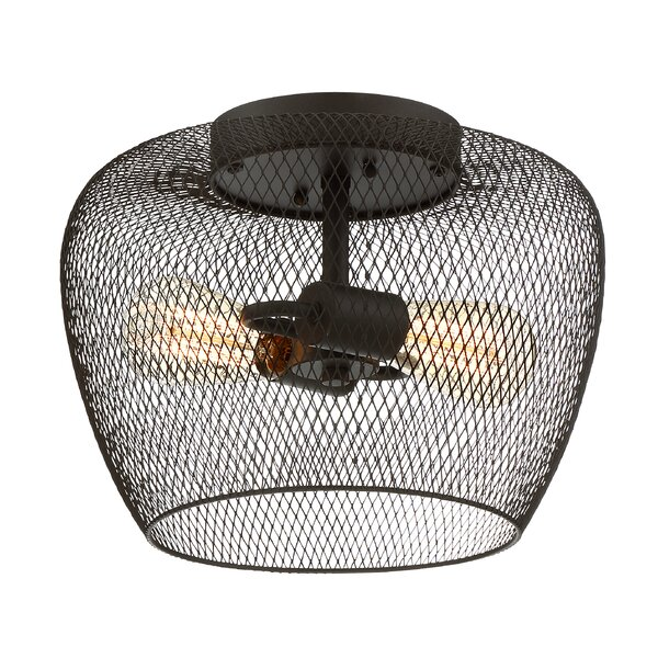 Trent Austin Design Mclaren 2 Light 13 Quot Caged Dome Flush