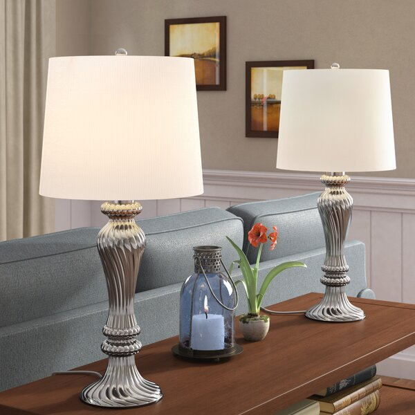 Lowrey Glass 26 Table Lamp (Set of 2) by Astoria Grand
