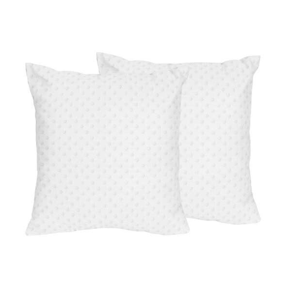 Minky Dot Throw Pillows (Set of 2) by Sweet Jojo Designs