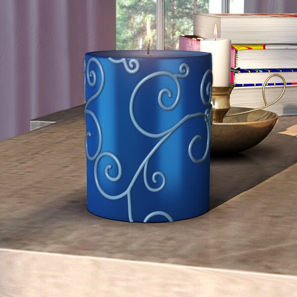 Scroll Unscented Pillar Candle by Willa Arlo Interiors