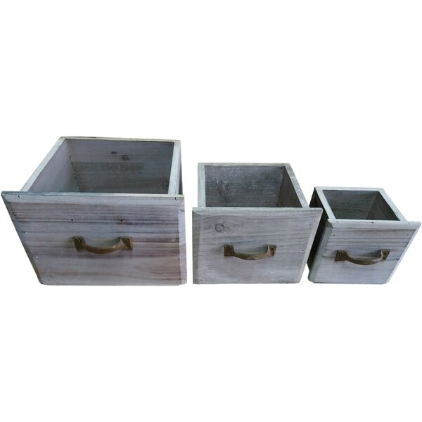 Veney 3- Piece Wood Planter Box Set by Ophelia & Co.