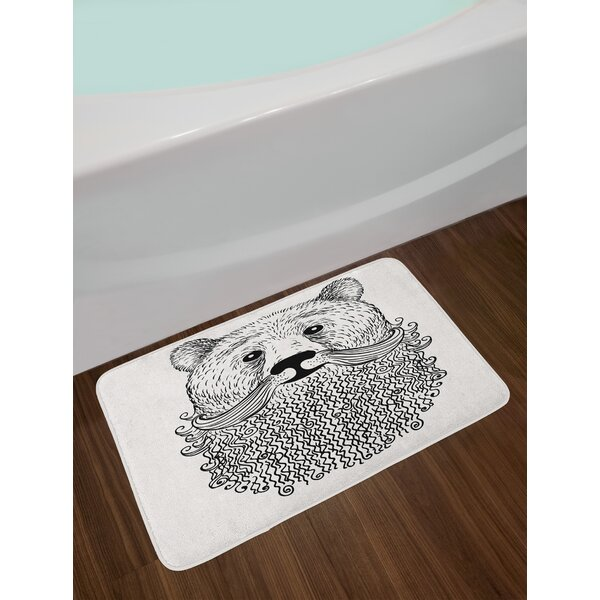 Doodle Black White Indie Bath Rug by East Urban Home