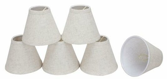6 Linen Empire Candelabra Shade (Set of 6) by Aspen Creative Corporation