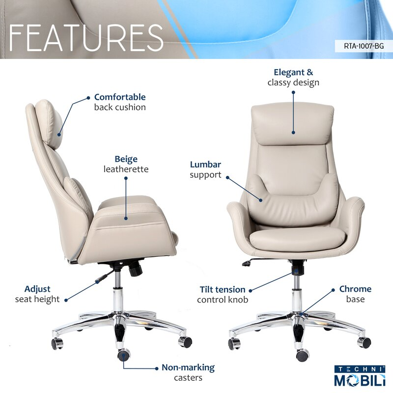 Conley Best Ergonomic Home Office High Back Executive Chair