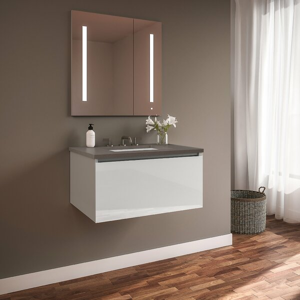 Curated Cartesian 30 Wall-Mounted Single Bathroom Vanity Set by Robern