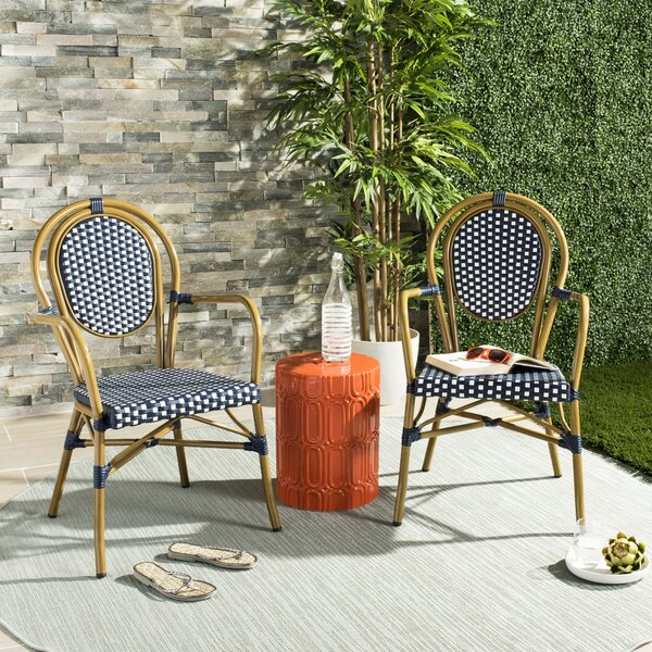 Shyann French Stacking Patio Dining Chair (Set of 2) by Mistana