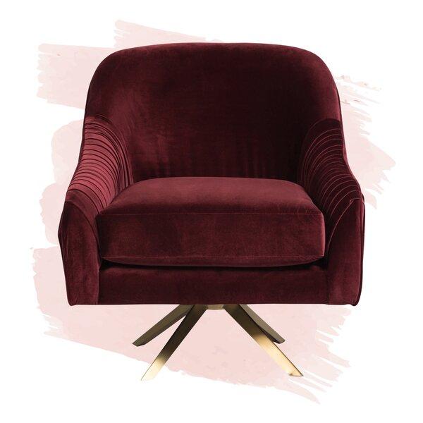 Review Lachlan Swivel Barrel Chair
