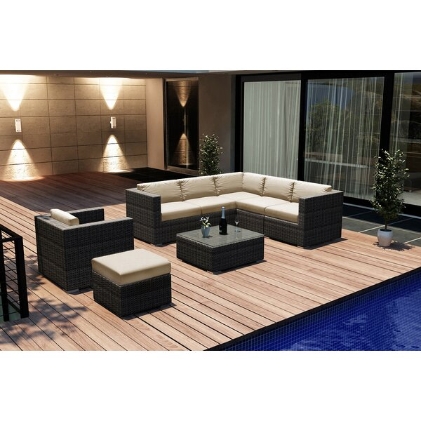 Hobbs 8 Piece Sunbrella Sectional Set with Cushions by Rosecliff Heights