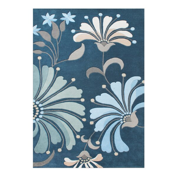 Ethelyn Hand-Woven Blue/Green Area Rug by Red Barrel Studio