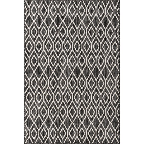 Stephania Geometric Black Indoor/Outdoor Area Rug