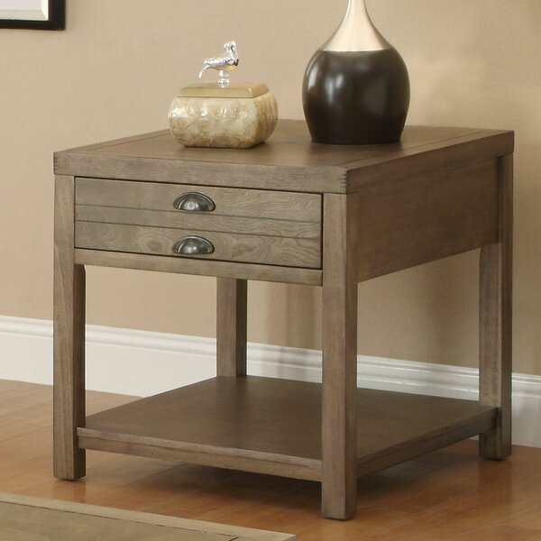 Sunset End Table by Three Posts