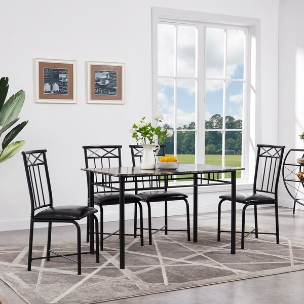 Register 5 Piece Dining Set by Fleur De Lis Living