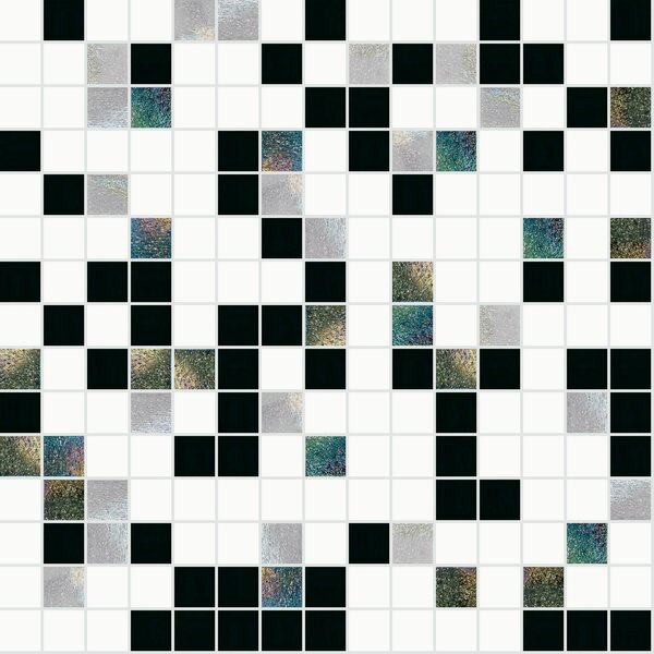 13 x 13 Glass Mosaic Tile by Mosaic Loft