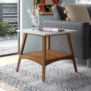 Modern Contemporary White High Gloss End Table Allmodern