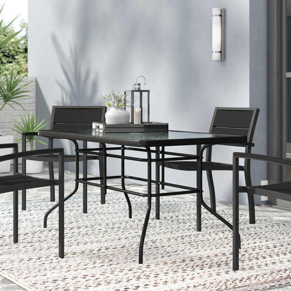 Sons Glass Dining Table By Ebern Designs