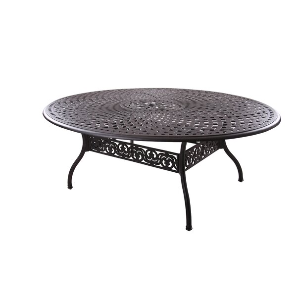 Goncalvo Aluminum Dining Table by Fleur De Lis Living
