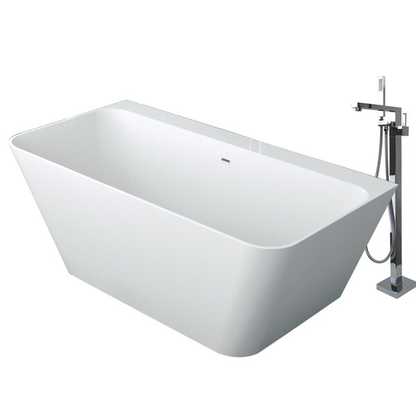 Glenwood 67 x 32 Freestanding Soaking Bathtub by Transolid