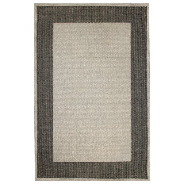 Amalia Border Gray Indoor/Outdoor Area Rug by Winston Porter