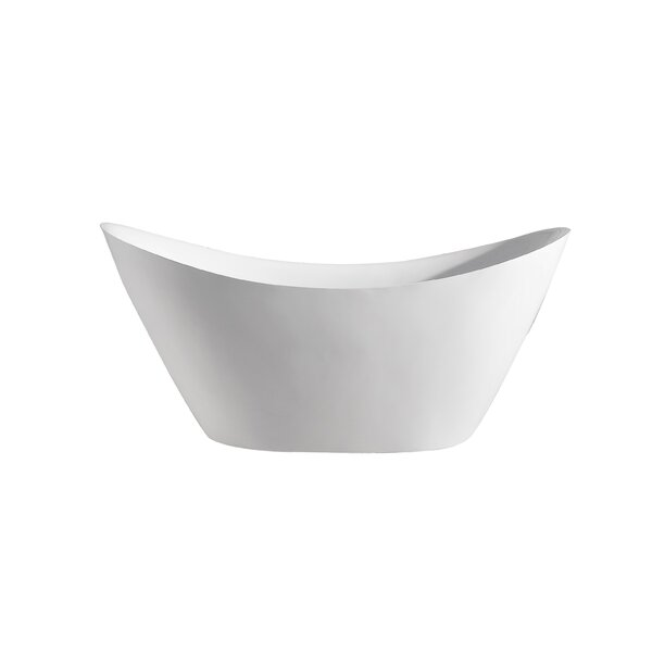 Ormes 68 x 29  Freesanding Soaking Bathtub by Orren Ellis