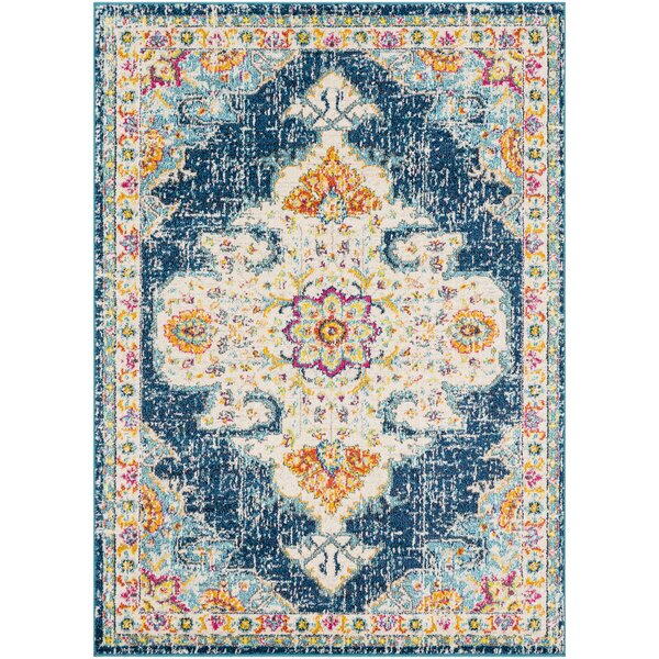 Berry Blue/Orange Area Rug by Bungalow Rose