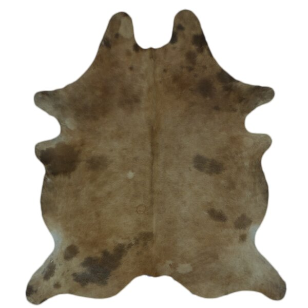 One-of-a-Kind Coyne Hand-Woven Cowhide Brown Area Rug by Foundry Select