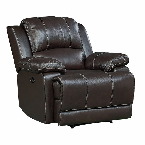 Garlock Leather Power Rocker Recliner by Red Barrel Studio