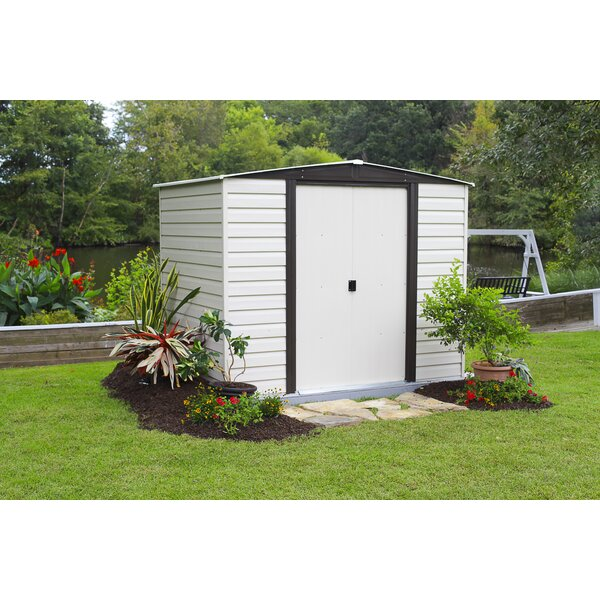 Dallas 8 ft. W x 6 ft. D Metal Storage Shed by Arrow
