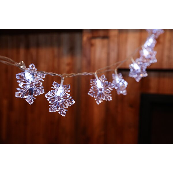 20-Light 160 Inches. Snowflake String Lights by Festival Depot