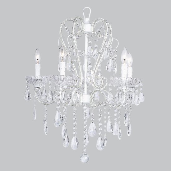 Whimsical 5-Light Candle Style Chandelier by Jubilee Collection