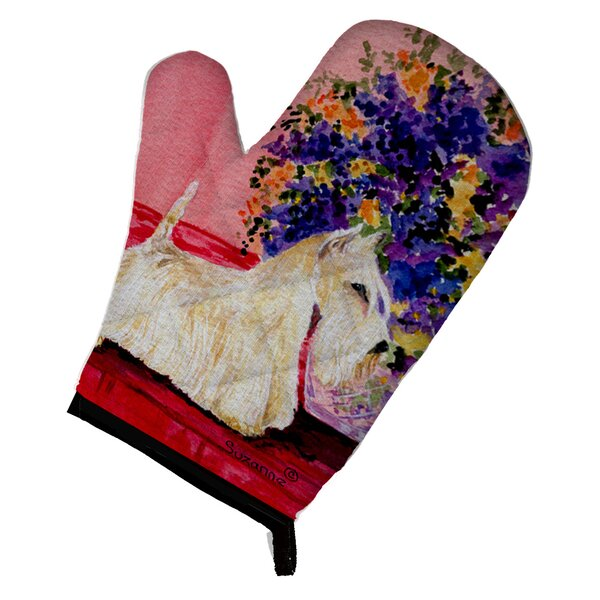 Scottish Terrier Red/Purple Oven Mitt by East Urban Home