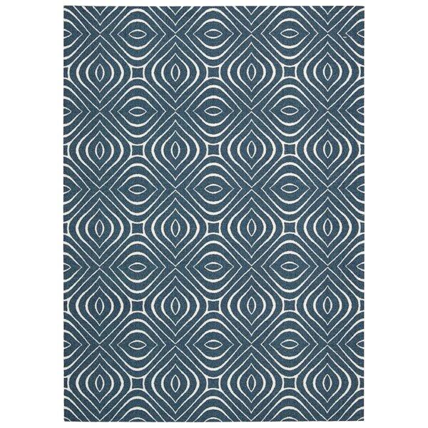 Conforti Cadet  Blue Geometric Area Rug by Mercury Row